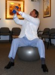 Stability Ball exercises for abs Chop2