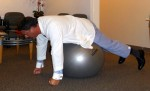 Stability Ball exercises for abs Abdominal Crawl